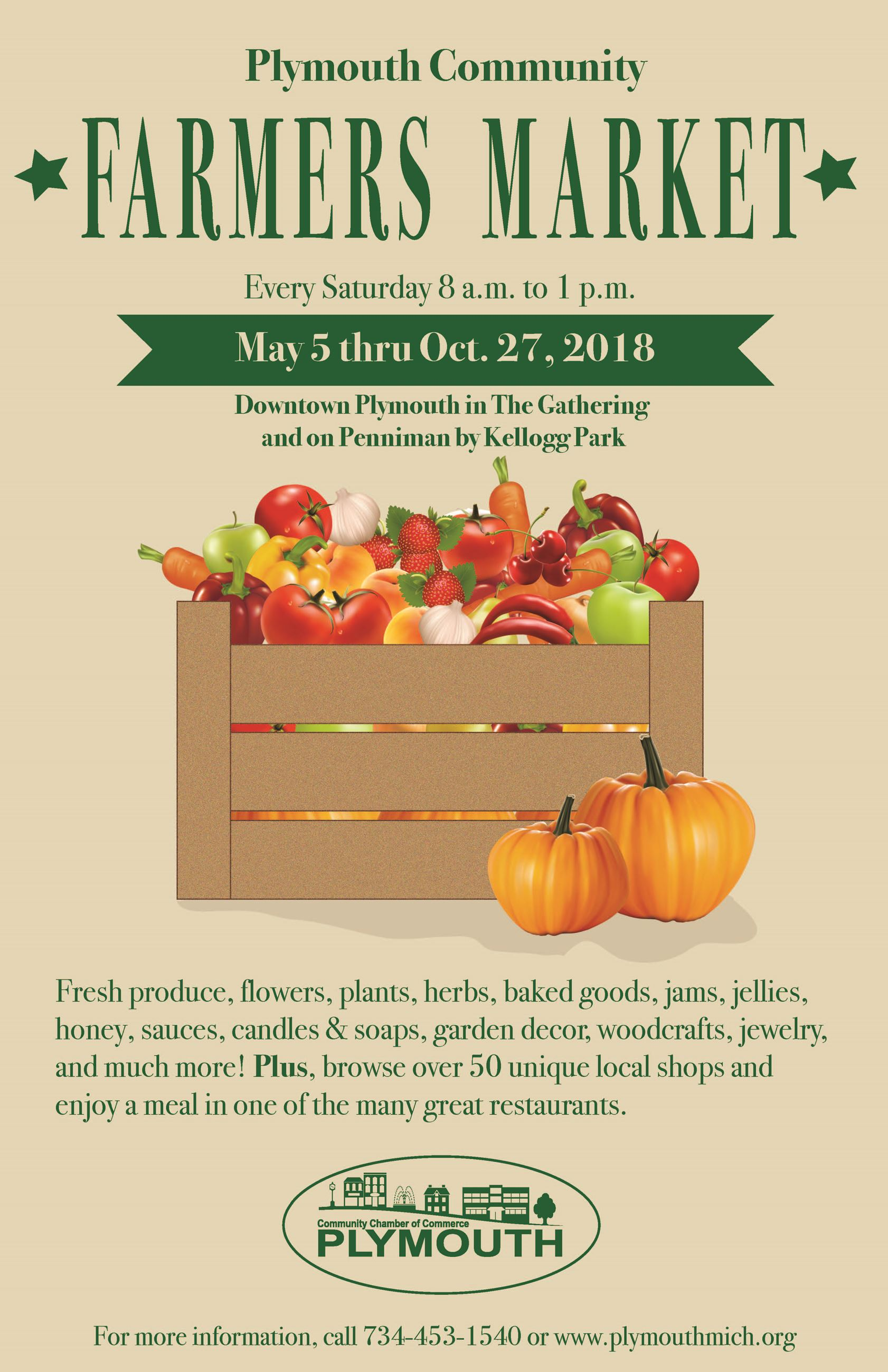 2018 Farmers Market poster