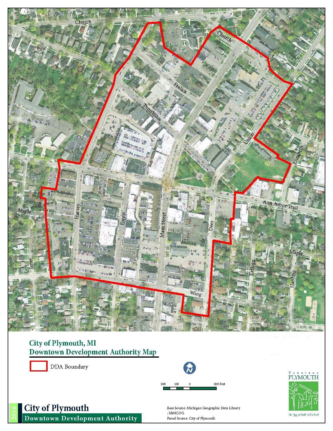 Map Of Plymouth Maps | City of Plymouth Downtown Development Authority