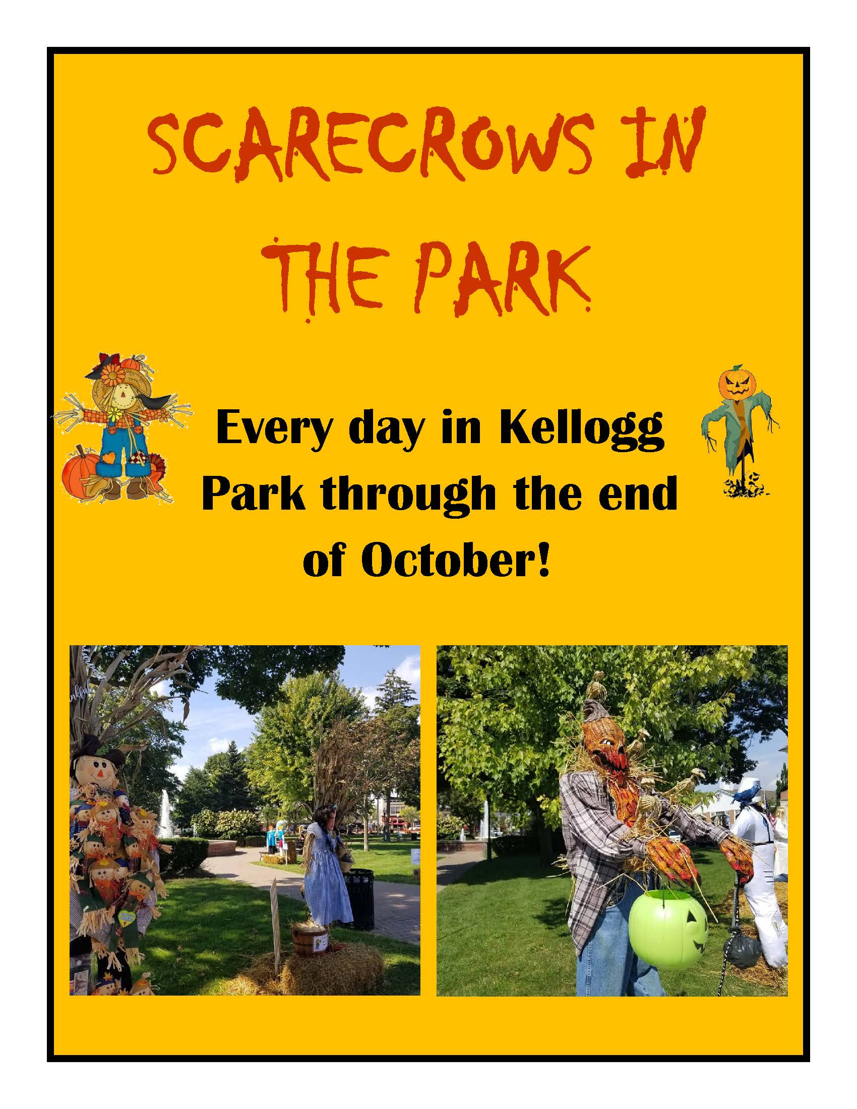 scarecrows in the park graphic